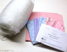 My First Quilt - Beginner's 4x4 Square Little Ballet Dancer Pink Patchwork Quilt Kit